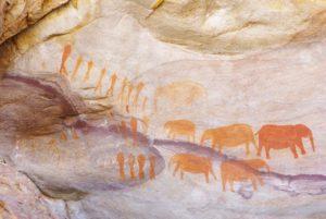 San rock painting Cederberg
