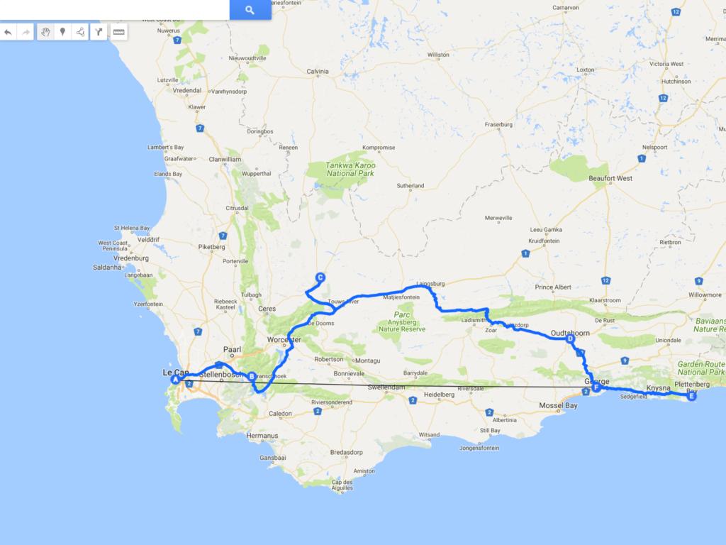itinéraire 10 jours Afrique du Sud