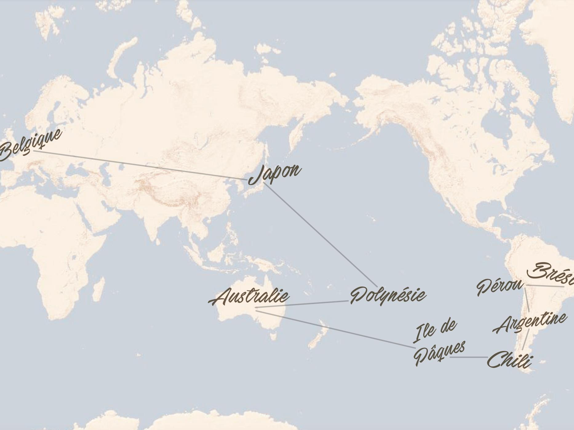 Itinéraire de notre tour du monde en famille